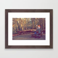 Smoking Bench Framed Art Print