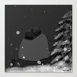 Winter Stargazing Canvas Print