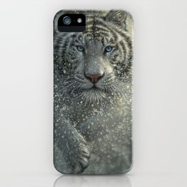 White Tiger - Wet and Wild iPhone Case