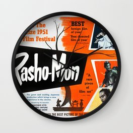 Rashomon - Vintage 1950 Japanese Film Poster Wall Clock