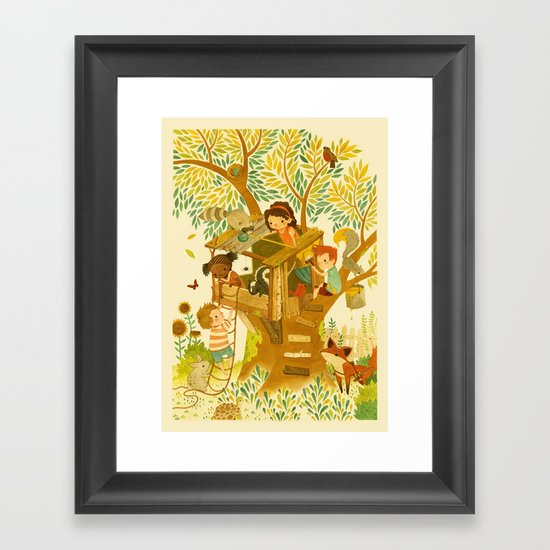 Our House In the Woods Framed Art Print
