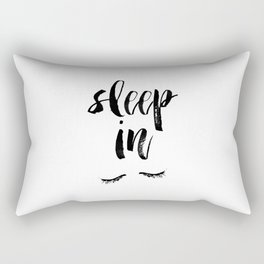 Sleep In Black and White Scandi Bedroom apartment Wall Decor for minimalist Typography Art Print Rectangular Pillow