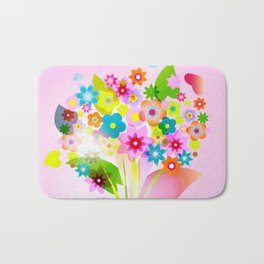 spring flowers valentine mothers day Bath Mat