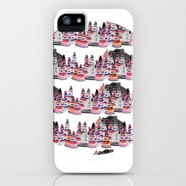 Bear and macaroons!  iPhone Case