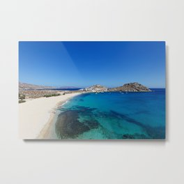 Agia Anna is one of the most exotic beaches in Mykonos, Greece Metal Print