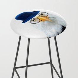 Funny Eagle Portrait Bar Stool