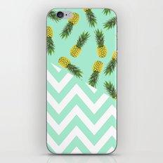 blue pineapple chevron iPhone & iPod Skin