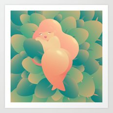 I'm Peachy Art Print