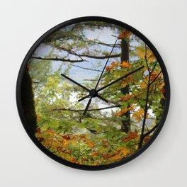 Columbia Rover Gorge Washington Trees in Autumn Wall Clock