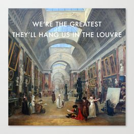 The Greatest in the Grande Galerie du Louvre Canvas Print