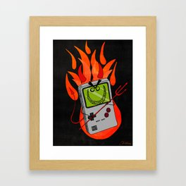 Idle Hands are the Devil's Playthings Framed Art Print