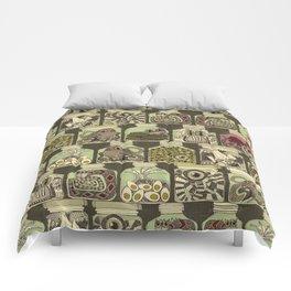 weird pickles vintage Comforters