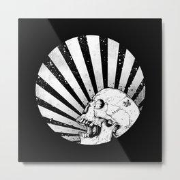 Kamikaze Skull Metal Print