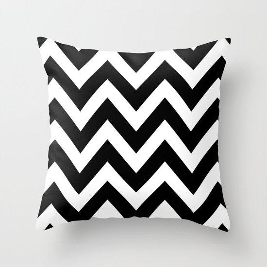 Black And White Chevron Throw Pillows : BLACK AND WHITE CHEVRON Throw Pillow by Natalie Sales Society6