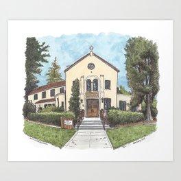 Davis Community Church Art Print