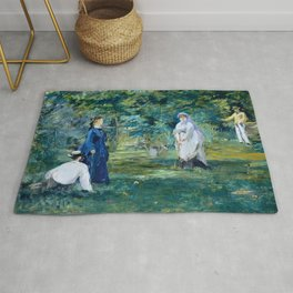 "Édouard Manet ""A Game of Croquet"" Rug"
