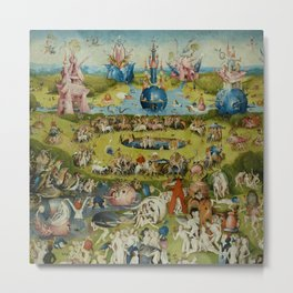 "Hieronymus Bosch ""The Garden of Earthly Delights"" Metal Print"