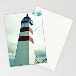 Lighthouse in norway Stationery Cards