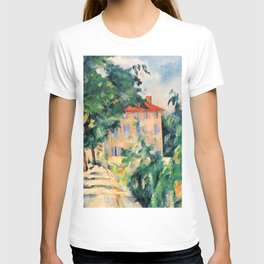 """Paul Cezanne """"House with red roof"""", 1890 T-shirt"""
