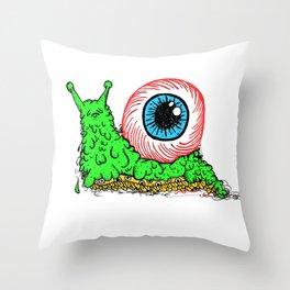 goopy [green/blue] Throw Pillow