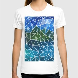 Abstract triangle background T-shirt