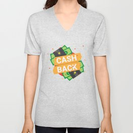 Cash Back Unisex V-Neck