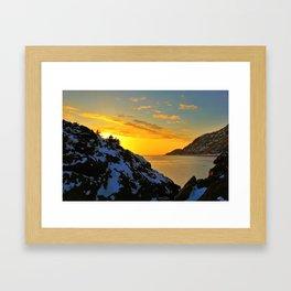 Winter Sunset at Beluga Point - ALASKA  Framed Art Print