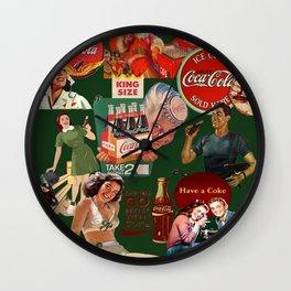 vintage coke ads Wall Clock
