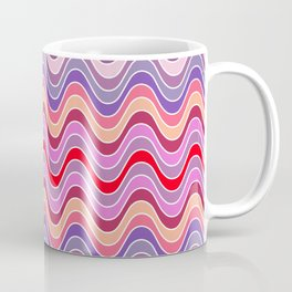 Red Waves Coffee Mug