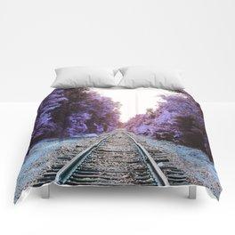 Train Tracks : Violet Blue Dreams Comforters