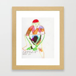 BEFORE YOU MET, Framed Art Print