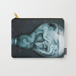 Trapped In This Idea - Aqua Carry-All Pouch