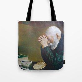 Eric Enstrom Grace Man Praying Over Bread Tote Bag