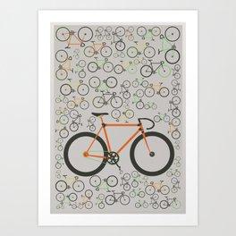 Fixed gear bikes Art Print