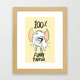 furry trash Framed Art Print