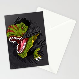 Agressive t rex. Stationery Cards