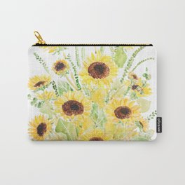 sunflowers and leaves arrangement  Carry-All Pouch