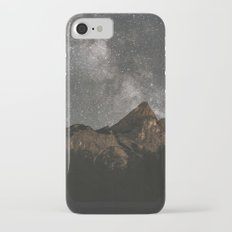 Milky Way Over Mountains - Landscape Photography iPhone 8 Slim Case