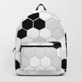 Honeycomb Pattern | Black and White Design | Minimalism Backpack