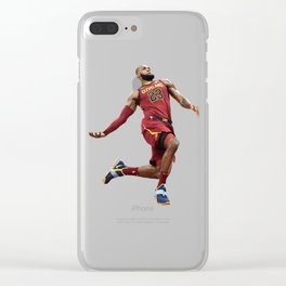 LeBron Dunking The Ring James Clear iPhone Case