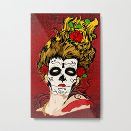 Halloween the day of the dead Skull face painting iPhone 4 4s 5 5s 5c, pillow case, mugs and tshirt Metal Print