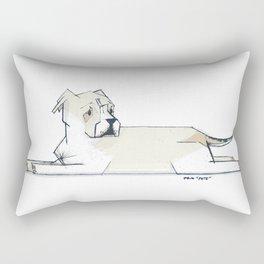 Pete - PetBunch by Friztin Rectangular Pillow