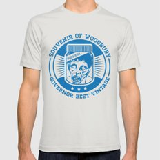 Walking dead - Souvenir of Woodbury Mens Fitted Tee Silver LARGE