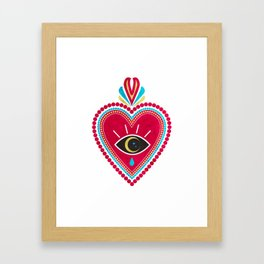 Ex Voto Sacred Heart Framed Art Print
