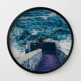 The 40 Steps - Cliff Walk - Newport, Rhode Island Wall Clock