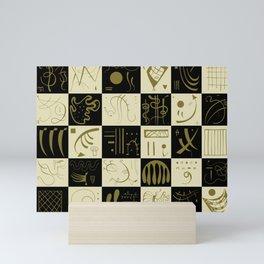 Kandinsky - Black and Gold Pattern - Abstract Art Mini Art Print