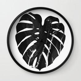 Monstera leaf, Print, Scandinavian, Modern, Wall Art, Tropical Wall Clock