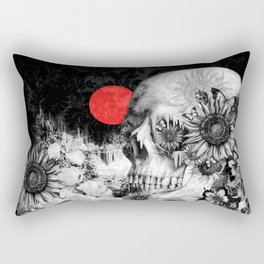 Fire in the dark, nature skull Rectangular Pillow