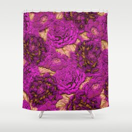 satin and lace flowers Shower Curtain