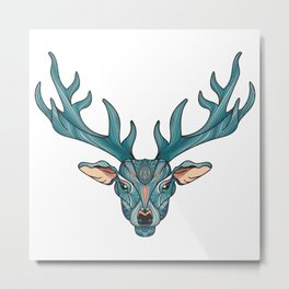 Deer Park- MI_Blue Metal Print